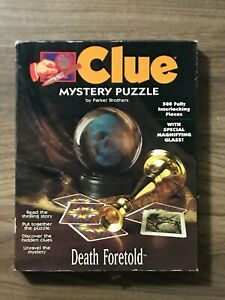 Parker Brothers Clue Mystery Jigsaw Puzzle 500 Pieces DEATH FORETOLD