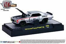 1:64 M2 Machines AUTO-MODS AM05 = Silver Chevy 1969 Camaro SS/RS 396 Race Car 69