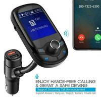 "Nulaxy Bluetooth FM Transmitter 1.8"" Color Screen Wireless F0X2 Receiver M3H2"