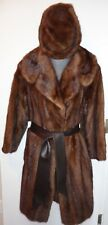 Thorpe Furs Vintage Fur Coat and Hat Set M/L Brown