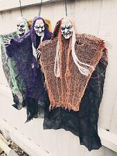 71cm Colgante De Halloween Bruja Con Capucha Horror Cráneo Decoración Utilería tienda muertos Ghoul