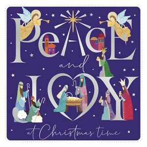 Charity Christmas Cards Pack of 10 Peace and Joy Religious Joseph Mary Jesus