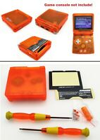Transparent Clear Orange Shell Housing Case For Game Boy Advance SP GBA SP