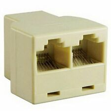 RJ45 Cat5e Cat6 Ethernet Network 3 Way Cable Joiner Connector Coupler Adapter