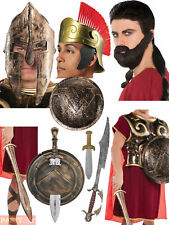 Adults Warrior Costume Accessories Mens Ladies Roman Spartan Fancy Dress Outfit