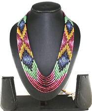 400Cts Beautiful Multi Sapphire Gemstone 9 line Necklace
