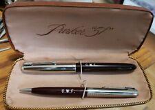 PARKER Special 51 Fountain Pen/pencil Set Jewel cap in burgundy vintage w/Box