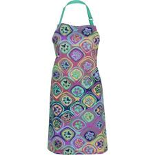 Kaleidoscope of Paw Prints Colorful Pet Lovers Kitchen Apron with Pocket