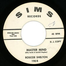 """ROSCOE SHELTON promo 45:  """"Mastermind / Love Comes and Goes""""  1964  Sims  VG"""