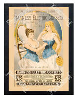 Historic Harness Electric Corsets 1890s Advertising Postcard