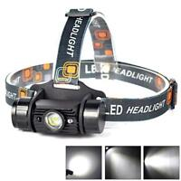 3W USB Rechargeable LED Headlamp Battery with IR Sensor 350 LM Headlight