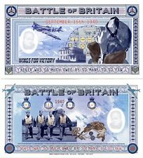 "BATTLE of BRITAIN ""Art Note""  Uncirculated"