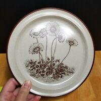 Noritake Stoneware Desert Flowers Salad Plate Tan with Desert Daisies 1970's