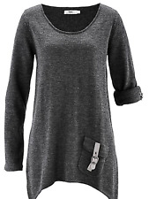 Bonprix at kaleidoscope Size 10 / 12 Charcoal Smooth Knit WINTER JUMPER TOP Fab