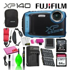 Fujifilm FinePix XP140 Waterproof Digital Camera Bundle with 80GB SD Card