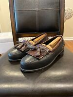 Johnston Murphy Aragon II $100 Men's Kiltie Tassel Loafer Shoes Size 10.5 Wide