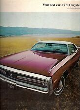 Chrysler Newport 300 New Yorker Town & Country 1970 Canadian Market Brochure