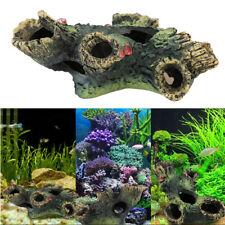 Polyresin Hollow Trunk Tree Log Wooden Fish Tank Aquarium Ornament Simulation