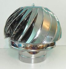 CHIMNEY SPINNER COWL Stainless Steel Wind Rotating Cap INOX to fit 6''/150mm