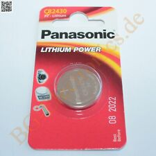 2 x CR2430 Lithium Power Batterie 3V 24.3mm 3mm  Panasonic Knopfzelle 2pcs