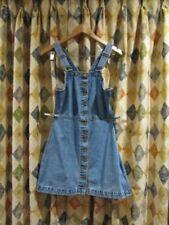 NEW! womens ABRAND Pinafore overall style boho denim dress sz 8