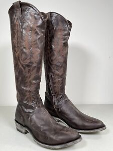 Women's Old Gringo Boots Mayra Chocolate Genuine Handmade Embroidery 10 L601-14