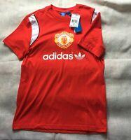 New ADIDAS t shirt 100 cotton RED Casual TOP men size M sz Medium SPORT Tunic US