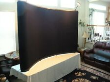 Trade Show Table Top 10 Full Curved Backdrop Lights Easy Set Up Wheeled Case
