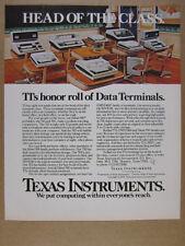 1978 Texas Instruments TI Silent 700 OMNI 800 Computer Terminals vintage Ad