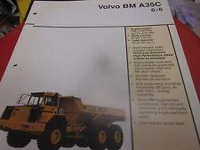 Volvo BM A35C 6X6 Articulated Truck Brochure