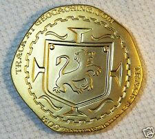 Pirate Coin - Pieces of Eight Dubloon - Satin Gold - New Geocoin Unactivate