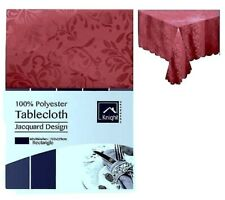 TABLE CLOTH 100% POLYESTER JACQUARD DESIGN BURGUNDY - MAROON Table cover Party
