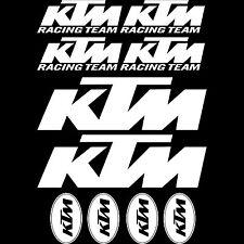 Kit 10 Stickers moto KTM Haute Résistance Qualité Premium 690 Duke R