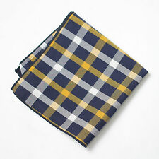 New Men's Cotton Pocket Squares in Check