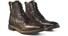 NEW John Varvatos Heritage Wingtip HANDMADE BOOTS Mens Leather Shoes Sz 11 $898