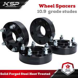 """4x1.5"""" Hubcentric Wheel Spacers 5x5 fits Jeep Wrangler Cadillac Chevy Buick GMC"""