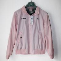 Supreme X Lacoste Harrington Veste Jacket Medium Pink Rose Box Logo Bogo