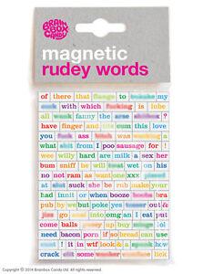 Brainbox Candy Magnetic Rudey words funny rude joke novelty humour