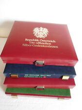 Konvolut von 4 Kassetten für Österreich  Münzen usw.gebraucht