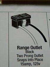 Range Outlet -Black- 2 Prong - 306Fu By Hillman