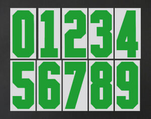 2020 2021 OFFICIAL BRAZIL HOME GREEN SHIRT NUMBERS 100mm = PLAYER SIZE