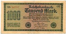 Germany, 1000 mark 1922 VF, Rosenberg #75d