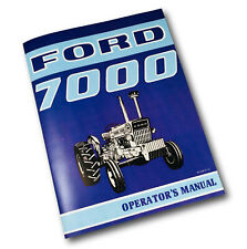 FORD 7000 TRACTOR OWNERS OPERATORS MANUAL BOOK MAINTENANCE INSTRUCTIONS ADJUST