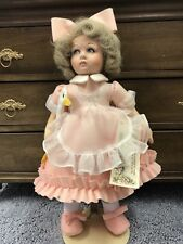 """LENCI doll from Spain. 14"""" felt doll with certificate."""