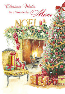 for a Wonderful Mum with Love at Christmas Card by Grass Roots