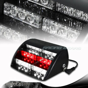 18-LED Red / White Emergency Warning Signal Flash Strobe Lights Unit Universal