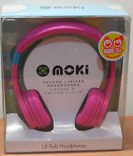 Moki Lil' Kids Volumn Limited HEADPHONES Pink Brand New In Box Music/ MP3