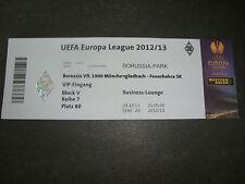 Sammler Eintrittskarte 12/13 Borussia Mönchengladbach Fenerbahce Istanbul Ticket