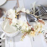Women's Flower Hair Band Crown Headband Wreath Bridal Wedding Hair Accessories