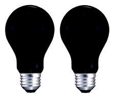 2 x BLACK LIGHT BULBS 120V 40W Glow Halloween Party Special Occasion Light Bulb